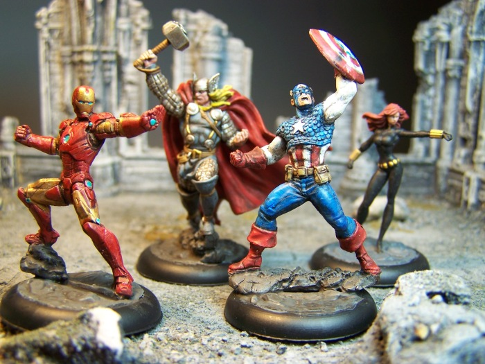 Marvel Universe Miniature Game: AVENGERS – Paint That Shit Up